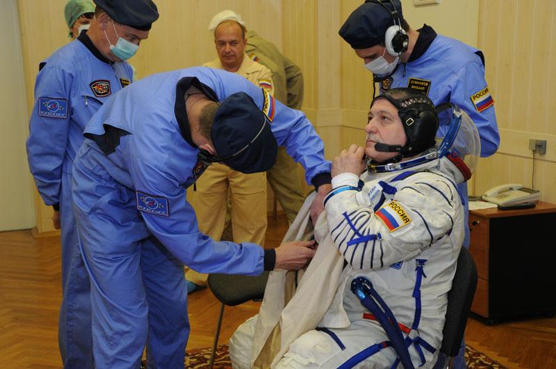 Заключительный этап подготовки экипажа ТПК Союз ТМА-09М_07